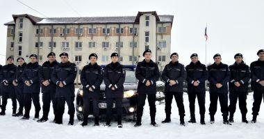 Elevi de la şcolile militare de subofiţeri, în practică la Jandarmeria Constanţa