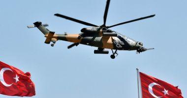 VIDEO / Un elicopter militar s-a prăbuşit în Istanbul. Sunt mai multe victime