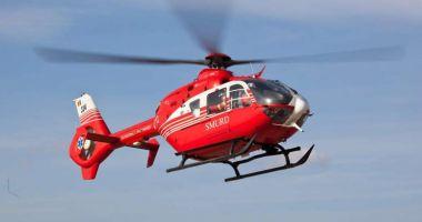 Elicopterul SMURD, misiune de urgenţă, în Delta Dunării