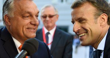 Emmanuel Macron, discuții cu Viktor Orban despre viitorul Europei