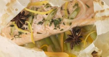 Piept de pui cu legume en papillote