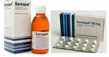 Medicamentul antitusiv EURESPAL, retras de pe piaţă. Poate provoca aritmii cardiace!