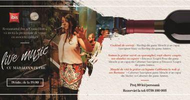 Prezentare de vinuri, cu asociere culinară şi muzică live, la restaurant Ibis