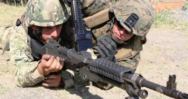 Exerciţiu militar româno-american la Kogălniceanu