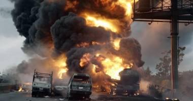 Scene șocante! Peste 100 de persoane au ars într-o explozie cumplită