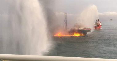 Foto : EXPLOZIE la bordul unei nave de cercetări! O persoană A DISPĂRUT