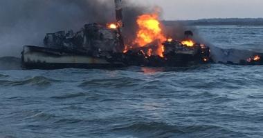 Explozie pe un tanc chimic. Şase marinari au dispărut