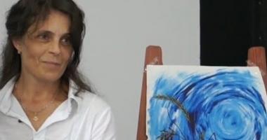 """""""Marea în culorile sale româneşti"""", pictată de  Rodica Nazarenco"""