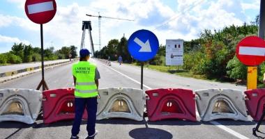 Podul Agigea, închis pentru trei săptămâni: