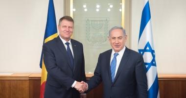 """Klaus Iohannis, discuție cu Benjamin Netanyahu. """"România susține consolidarea relațiilor cu Israelul"""""""