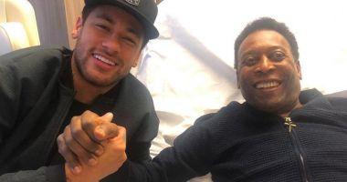 Neymar l-a vizitat pe Pele la spital