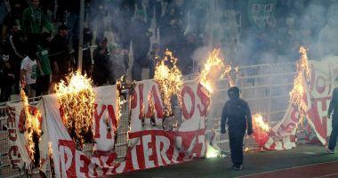 Derby-ul Greciei, întrerupt în minutul 69