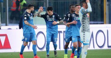Surpriză în Italia: Napoli pierde cu Empoli