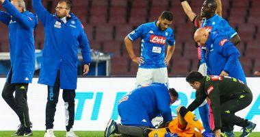 Accidentare gravă pentru portarul celor de la Napoli