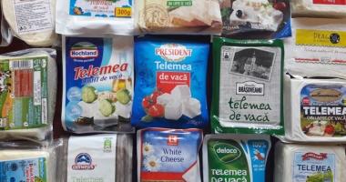 Brânză cu soluţie de deszăpezit  străzile, în magazinele din Constanţa