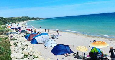 Cu cortul, la mare. Vacanțe inedite, atât pentru turiști, cât și pentru constănțeni