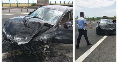 Atenţie, şoferi! O bandă de pe autostrada A4, închisă circulaţiei din cauza unui accident