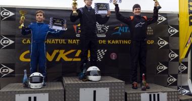 Fraţii Onoaie au încheiat pe podium Campionatul Naţional de karting