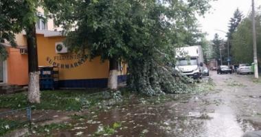 PLANUL ROŞU DE URGENŢĂ, activat / O persoană a murit, mai multe sunt rănite în urma unei furtuni puternice