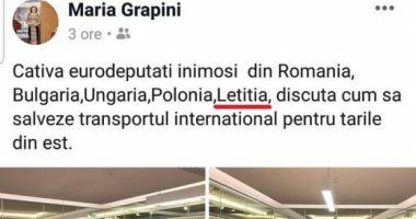 """Maria Grapini a """"inventat"""" o nouă ţară: Letiţia"""