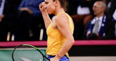 Fed Cup. Simona Halep, două puncte pentru România în semifinala cu Franţa