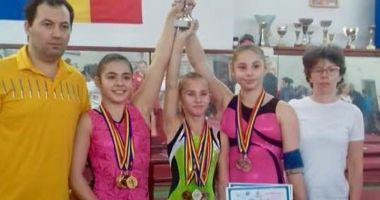 Gimnastele de la CSS 1 Constanţa,  pe podiumul