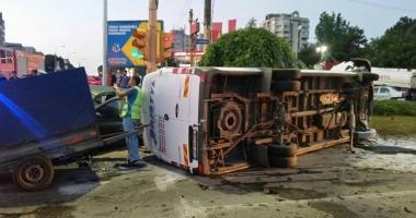 Grav accident rutier,  la intrarea în Constanţa