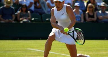 Tenis / Simona Halep se califică în sferturile de finală de la Wimbledon
