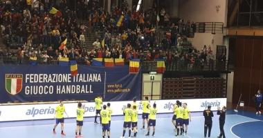 Handbaliştii tricolori au învins Italia. Dragoş Soare, printre marcatori