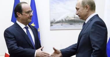 Putin ordonă navelor ruse din Mediterana să 'coopereze cu aliații' francezi
