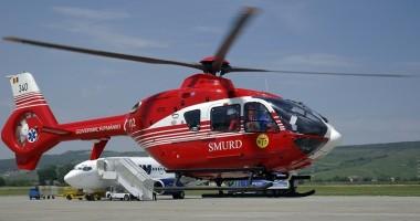 Bebeluş cu arsuri de gradul II, transportat cu elicopterul SMURD la Bucureşti