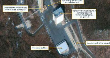 Imagini prin satelit. Coreea de Nord reconstruieşte o bază de lansare a rachetelor