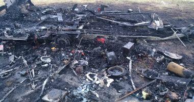 GALERIE FOTO. Butelie explodată într-o rulotă din Mamaia Nord!
