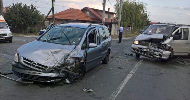 Galerie foto. Accident rutier la Constanța, din cauza unui șofer imprudent