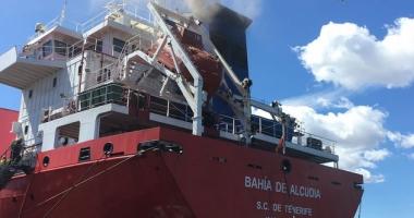 Incendiu la bordul navei