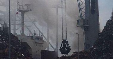 Incendiu pe o navă cu deșeuri la Southampton