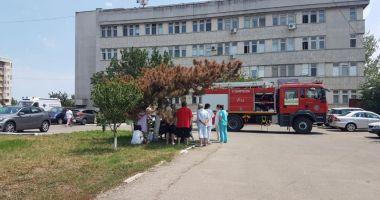 Incendiu la Spitalul CF Port, provocat de radiațiile solare