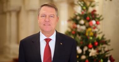 VIDEO / Mesajul președintelui Klaus Iohannis: Crăciun fericit, oriunde v-ați afla!
