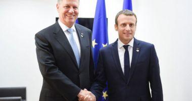 Președintele Klaus Iohannis, discurs alături de Emmanuel Macron
