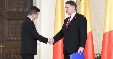 Klaus Iohannis, după întâlnirea cu premierul Grindeanu: Sunt îngrijorat, se prevăd cheltuieli prea mari în buget