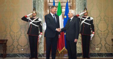 """Iohannis, întâlnire  cu omologul italian.  """"Am discutat despre  relația economică"""""""