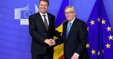 Iohannis, la întâlnirea cu Jean Claude Juncker: Poziţia României va continua să fie de susţinere a proiectului european