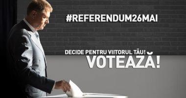Klaus Iohannis, anunţ important pe Facebook despre referendum