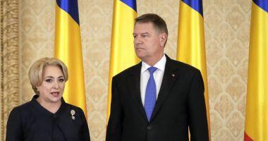 Președintele Iohannis, întâlnire cu premierul Viorica Dăncilă