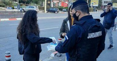 Jandarmii au aplicat zeci de amenzi