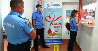 40 de jandarmi au donat sânge. Îndemn pentru constănțeni să le urmeze exemplul!
