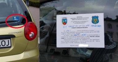 Şoferiţă amendată pentru că şi-a parcat regulamentar maşina