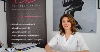 Specialistul în dermopigmentare Cerasela Brumă, cadou de sărbători bolnavelor de cancer