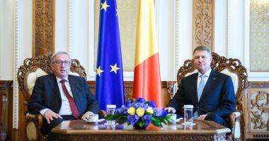 Klaus Iohannis se întâlneşte vineri cu preşedintele Comisiei Europene