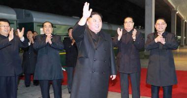 Kim Jong Un a sosit la Vladivostok pentru summit-ul cu Vladimir Putin